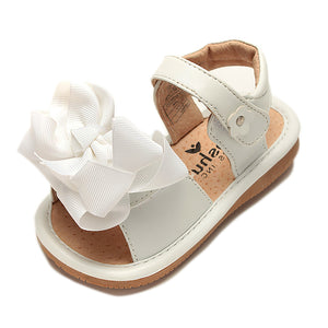 Ready Set Bow Sandal – Girls Squeaky Shoe