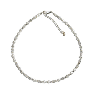 Hope-Sterling Silver Pearl/Crystal Necklace