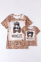 Load image into Gallery viewer, MOM LIFE - KID LIFE Leopard Matching Tee's