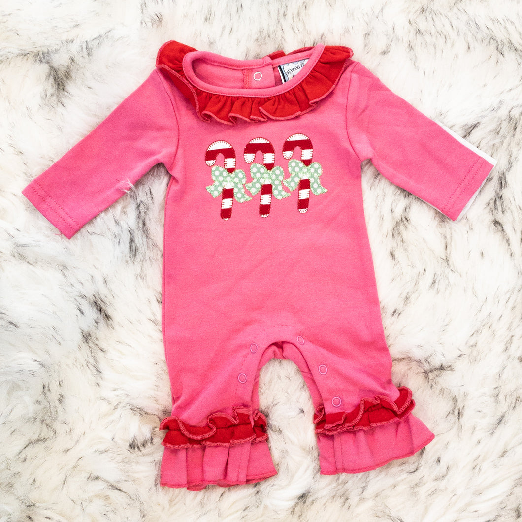 Candy Cane Applique Romper