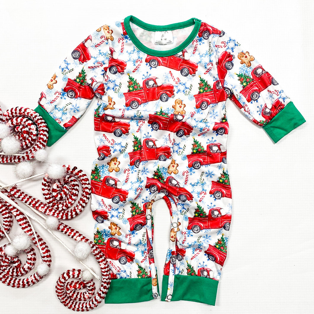 Christmas Car Rides Romper