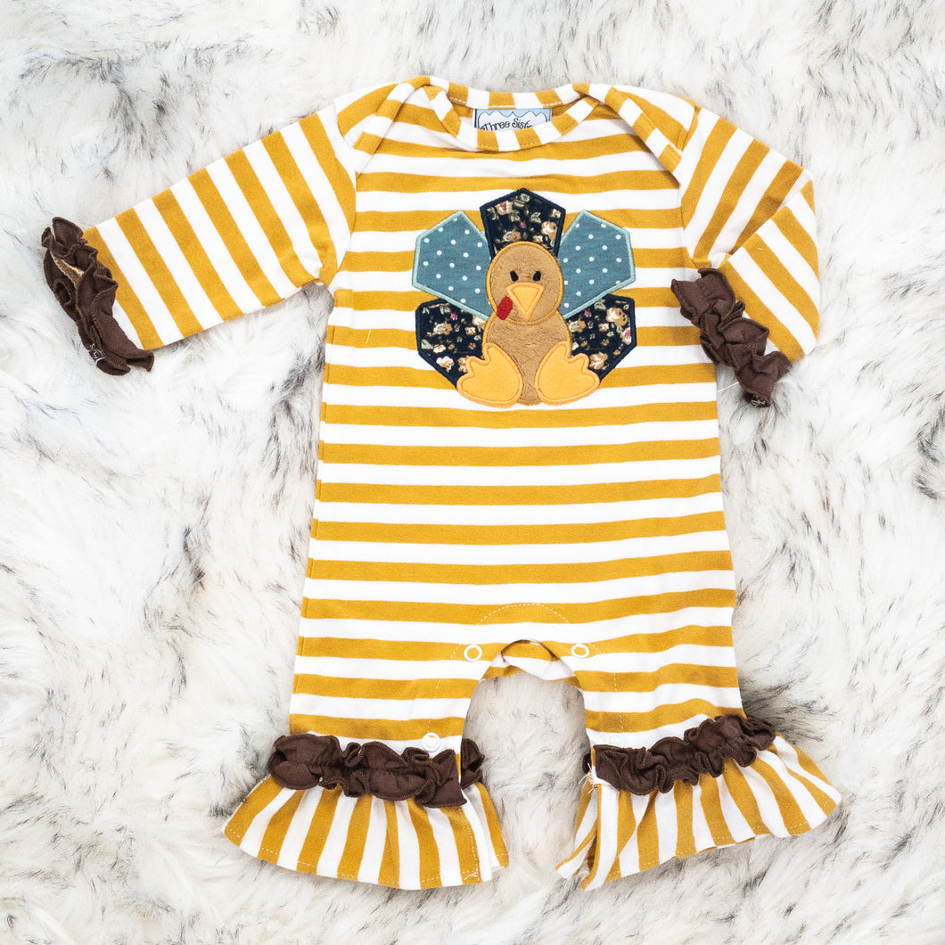 Turkey Time Applique Romper