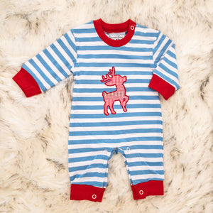 Reindeer Applique Romper - Boys