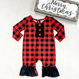 Serendipity Chilly Days Red & Black Romper