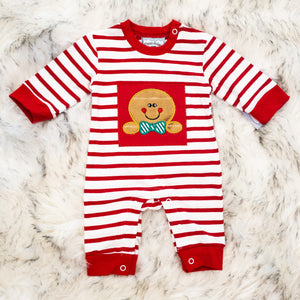 Gingerbread Applique Romper - Boys