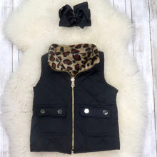 Load image into Gallery viewer, Leopard Reversible Vest