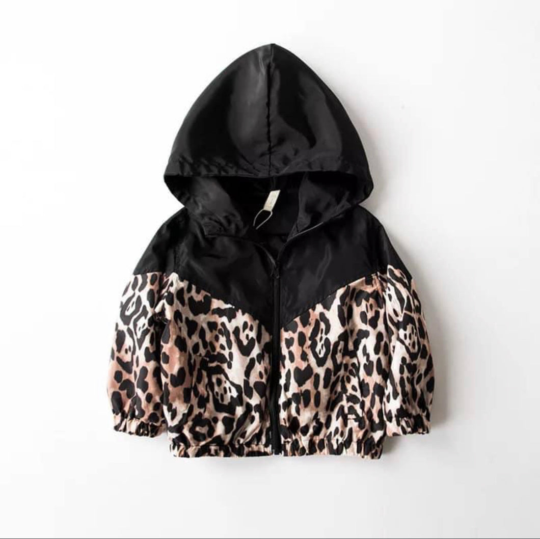 Animal Print Windbreaker