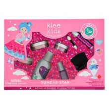 Load image into Gallery viewer, Sundae Star - Klee Kids Natural Mineral Play Makeup 6-PC Kit
