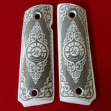 1911 Taurus Full Size ivory grips W Ambi Cut & Screws , T-T697