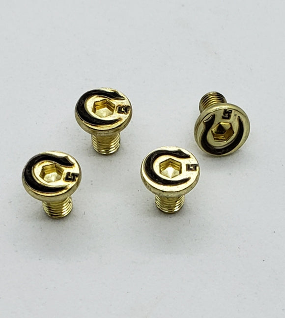 Custom 4 X 1911 Pistol Grip Screws - Handles Gold Blac Plated NEW