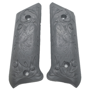 Ruger Mark IV 4 Wolf Metal Grips Black