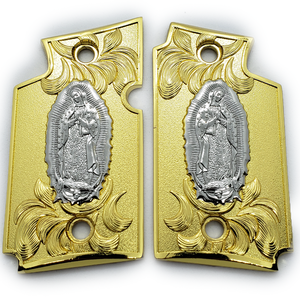 Sig Sauer P938 Virgin Mary Pistol Metal Grips Gold - Nickel