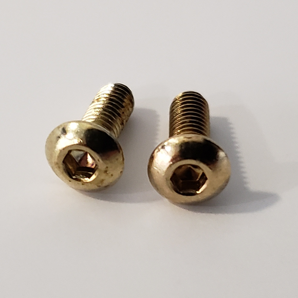 Browning Hi Power Grip Screws Gold Plated