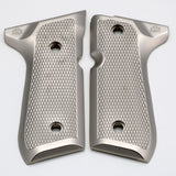 Beretta Metal Grips Fits 92F 92FS 92SB 96 M9  Brushed Nickel #T-T288