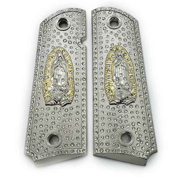 Closeout Sale $200 OFF 1911 Grips Virgin Mary With Zirconia stones