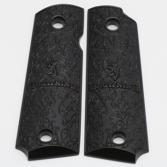 Browning 1911-22 / 1911-380 Metal Grips Black