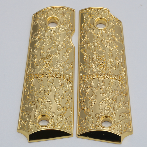 Browning 1911-22 / 1911-380 Metal Grips Gold Plated