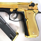 Combo Beretta Grips 92/96 Series Pistols + 2 X Magazine Plates Gold Plated screws included