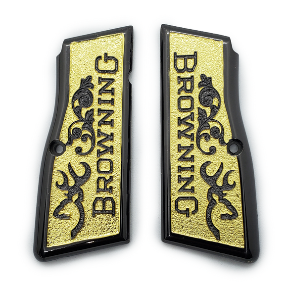 Browning Hi power Gun Grips Black Gold T-T387
