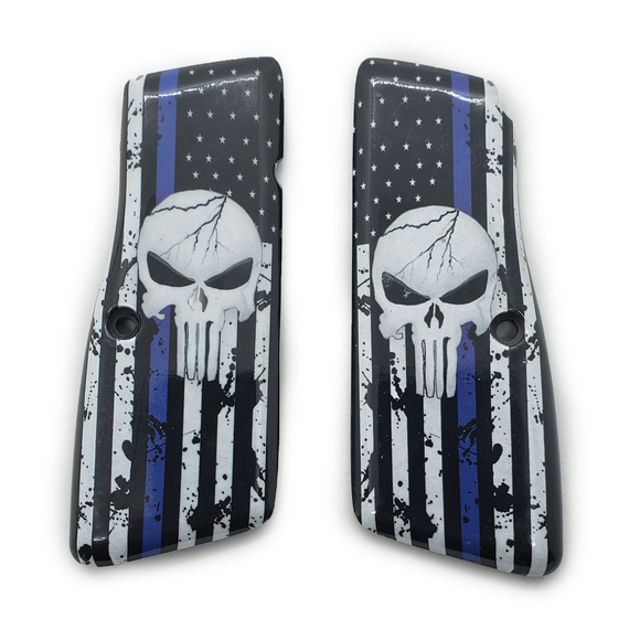 Browning Hi power Art Grips Blue Line