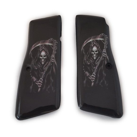 Browning Hi power Art Grips Grim Reaper