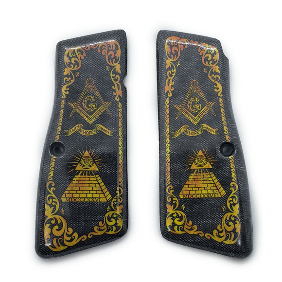 Browning Hi power Art Grips Masonic