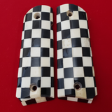 1911 FULL SIZE CHECKERED GENUINE IVORY GRIPS  W Ambi Cut #T-T989
