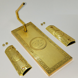 Display Set COLT Gun Stand And Grips 18K Gold Plated