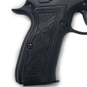 CZ 75 Grips Scroll Full Size 75 B BD SP-01 Shadow 2 Black #T-CZ02