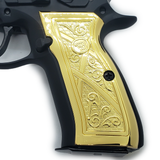 CZ 75 Grips Scroll Full Size 75 B BD SP-01 Shadow 2 Gold Plated #T-CZ03
