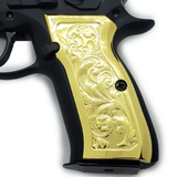 CZ 75 Grips Scroll Full Size 75 B BD SP-01 Shadow 2 Gold Plated #T-T418