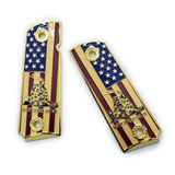 1911 FULL SIZE GRIPS DON'T TREAD ON ME Ambi Cut Gold With Soft Enamel