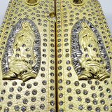 1911 Grips Virgin Mary With Zirconia stones Gold Plated