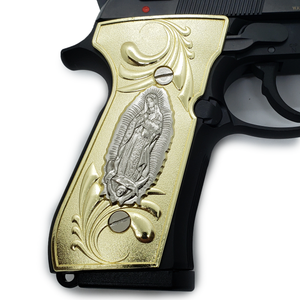 Virgin Mary Beretta  GRIPS 92/96 Series Pistols 92F, 92FS, M9, 96 Gold