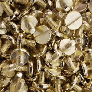 Slotted 1911 Pistol Grip Screws - Handles Gold Plated