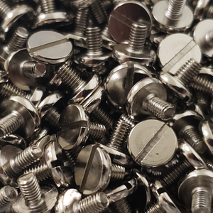 Slotted 1911 Pistol Grip Screws - Handles Nickel Plated