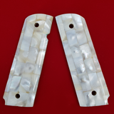 Hand Made 1911 FULL SIZE GRIPS REAL GENUINE MOTHER OF PEARL INLAY #T-T627