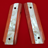 Hand Made 1911 FULL SIZE GRIPS REAL GENUINE MOTHER OF PEARL INLAY #T-T628