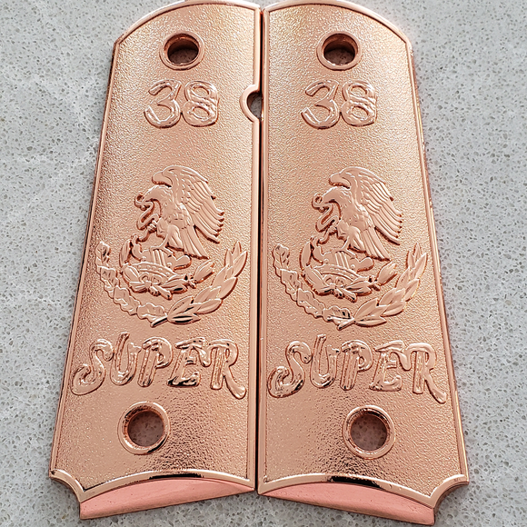 1911 GUN GRIPS 38 Super Rose Gold Plated Ambi Safety #T-T348