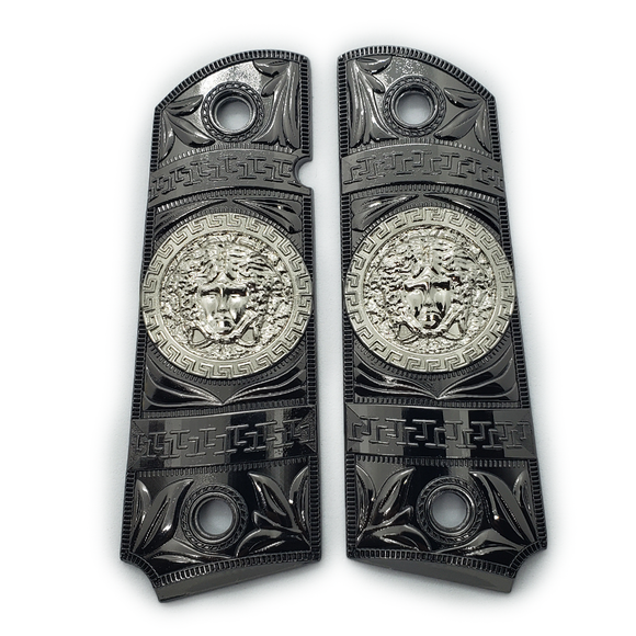 New 1911 Versace Style FULL SIZE  Ambi Cut Black Silver