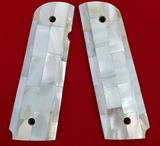 Hand Made 1911 FULL SIZE GRIPS REAL GENUINE MOTHER OF PEARL INLAY #T-T631