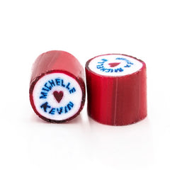 Red wedding personalised candy