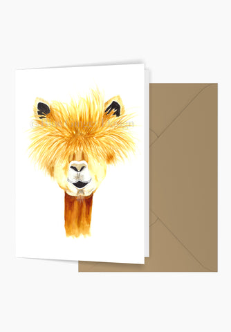 Happy Llama Greeting Card