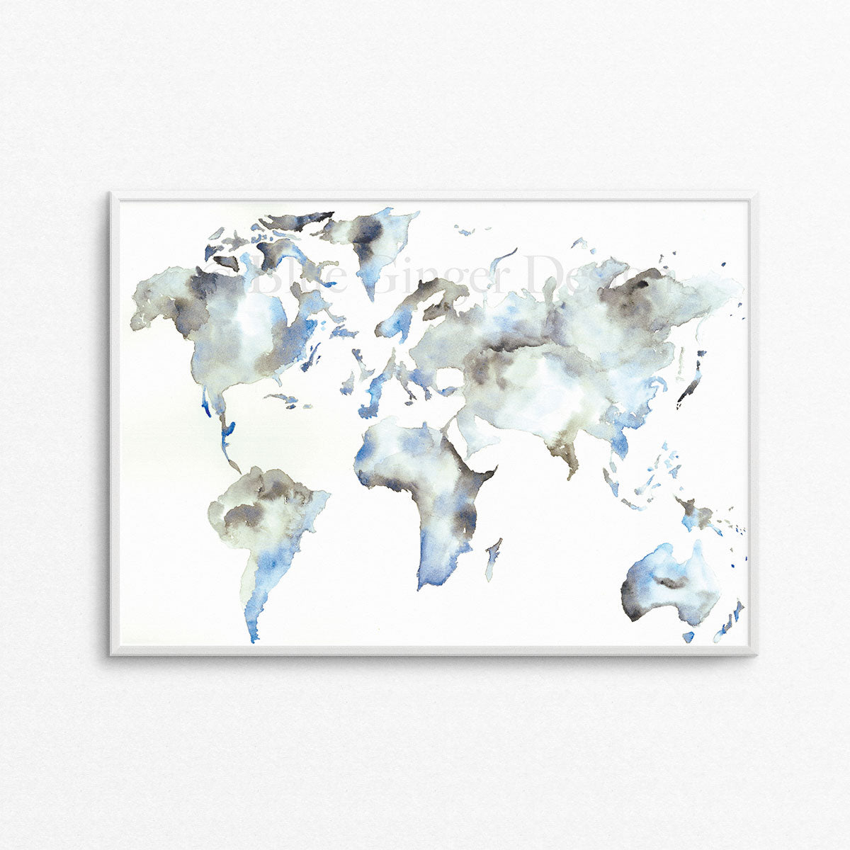 Wanderlust Map - Dark Blue A3