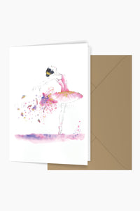 Mimi Ballerina Greeting Card
