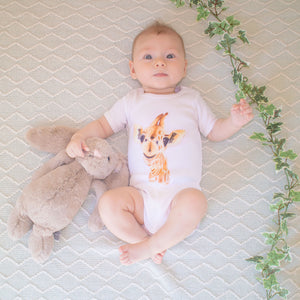 100% Cotton Giraffe Onesie
