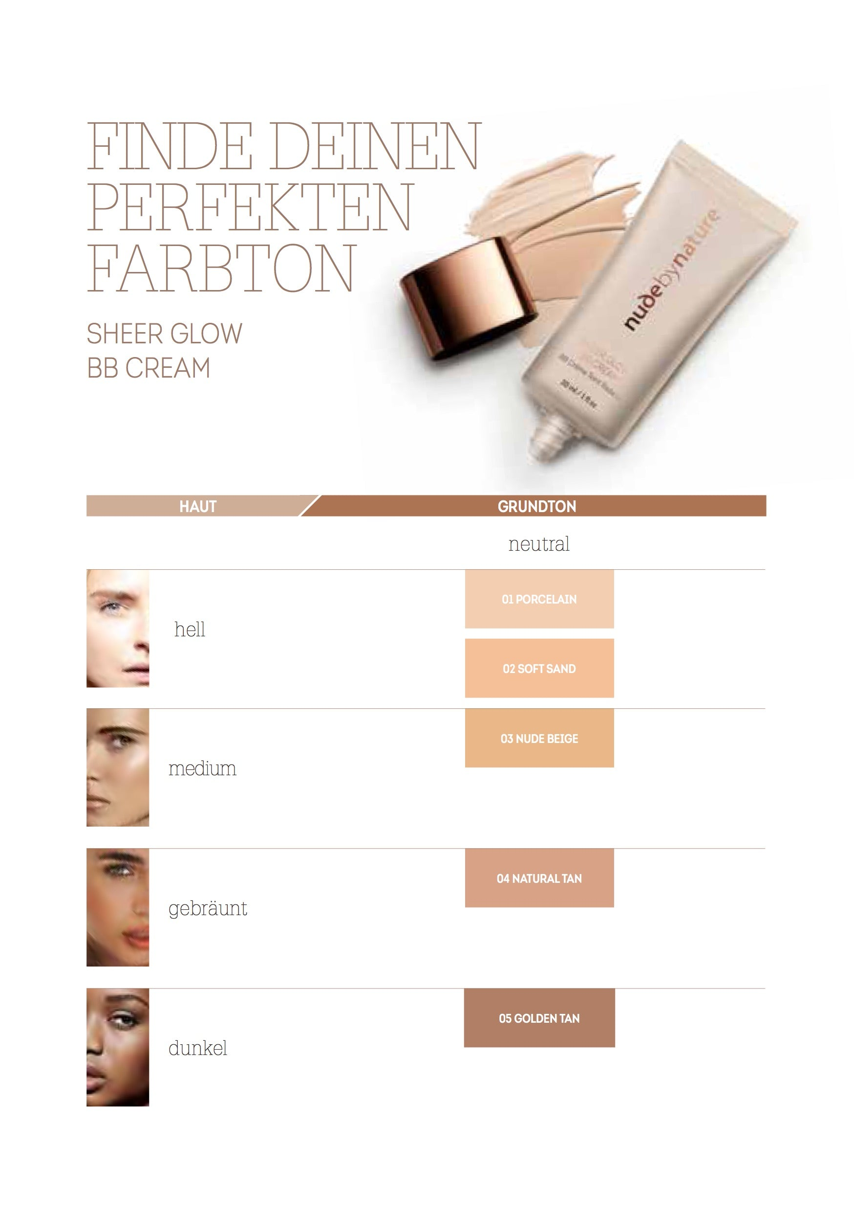 Sheer Glow BB Cream Shade Guide