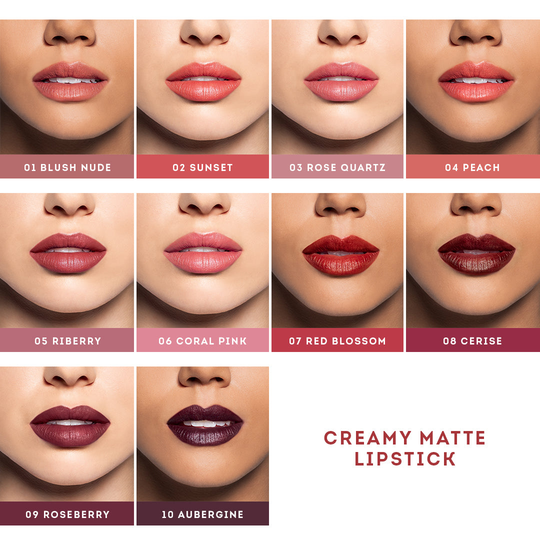 Køb Nude by Nature Creamy Matte Lipstick 05 Riberry - Matas
