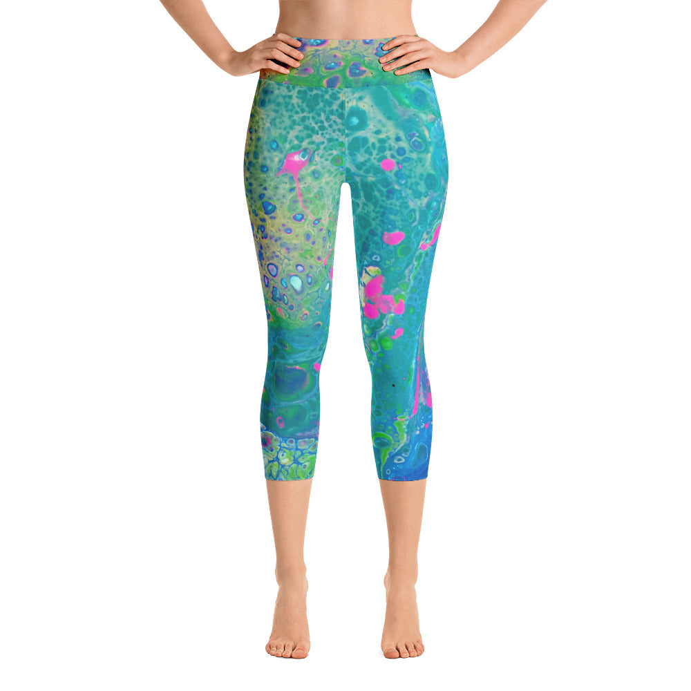 6bb9c58383b9 Bahamas Cropped High-Waist Yoga Leggings – The Abstractionist Shop