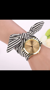 Stripe Floral Watch